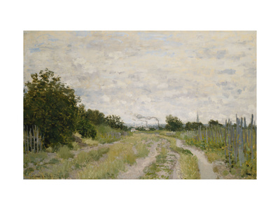Path through the Vineyards, Argenteuil Premium Giclee Print by Claude Monet