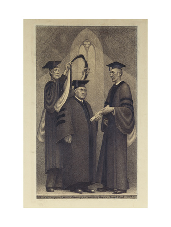Honorary Degree Premium Giclee Print by Grant Wood