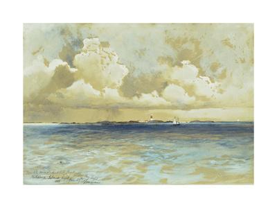 Bahama Island Light Premium Giclee Print by Thomas Moran