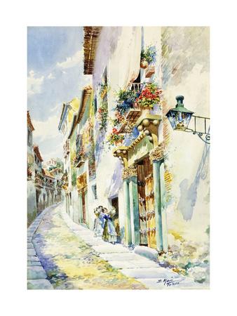 A Street Scene, Toledo Premium Giclee Print by Marin Higuero Enrique