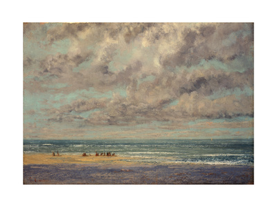 Marine - Les Equilleurs Premium Giclee Print by Gustave Courbet