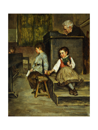 The Classroom Giclee Print by Henry Bacon