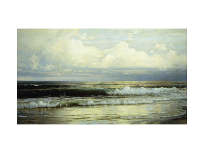 Sunlit Clouds and Sea Premium Giclee Print by William Trost Richards