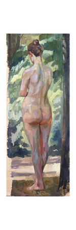 Standing Nude Premium Giclee Print by Wilhelm		 Trubner