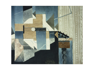 Guitar on Table Premium Giclee Print by Juan Gris