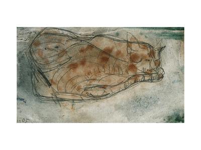 Sleeping Cat Premium Giclee Print by Paul Klee
