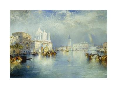 Grand Canal, Venice Premium Giclee Print by Thomas Moran