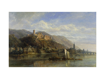Heidelberg Premium Giclee Print by Pierre Justin		 Ouvrie