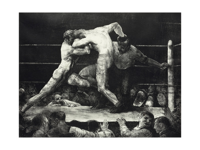 A Stag at Sharkey's Premium Giclee Print by George Wesley Bellows