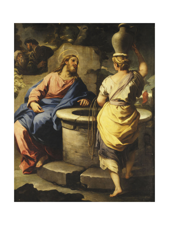 Christ and the Woman of Samaria at the Well Premium Giclee Print by Luca		 Giordano