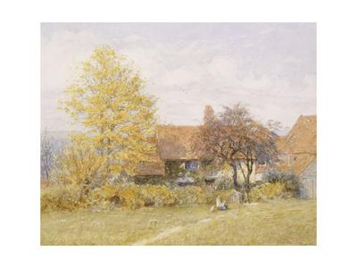 Old Wyldes Farm, Hampstead Lámina giclée por Helen Allingham