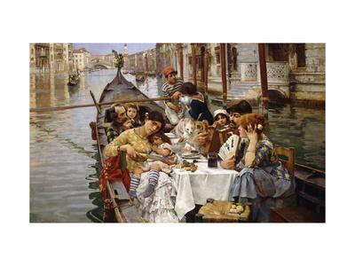 A Venetian al Fresco Giclee Print by William Logsdail