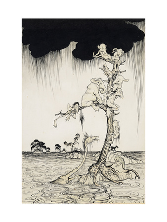 'The Animals You Know Are Not As They Are Now' Premium Giclee Print by Arthur Rackham