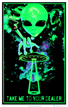 Take Me To Your Dealer College Blacklight Poster Posters