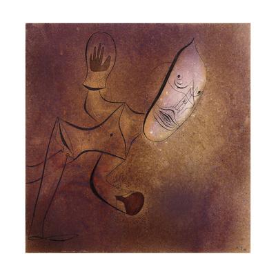Brutal Pierrot Giclee Print by Paul Klee