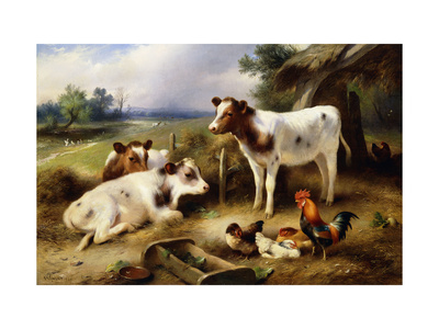Farmyard Friends Lámina giclée por Walter Hunt
