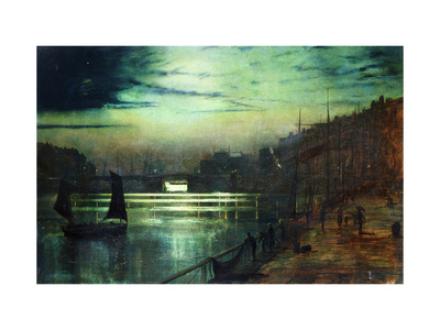 The Harbour Lights, Whitby Premium Giclee Print by John Atkinson Grimshaw