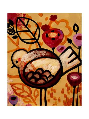 Raven Blossoms Giclee Print by Natasha Wescoat