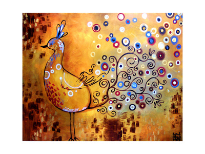 Peacock Giclee Print by Natasha Wescoat