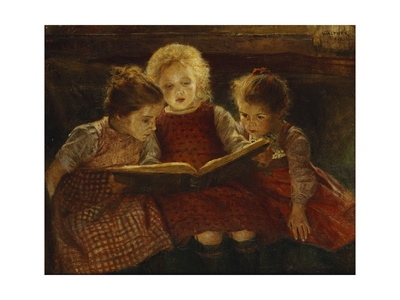 A Good Book Premium Giclee Print by Walter Firle