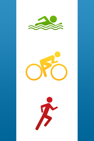 Triathlon Sports Plastic Sign Plastic Sign