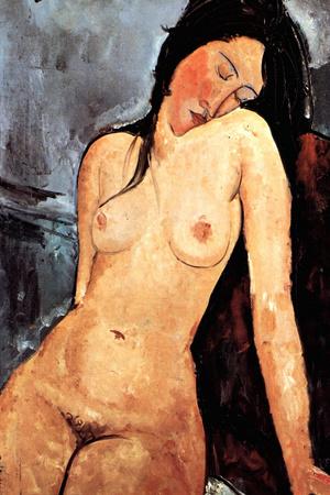 Amadeo Modigliani Nude Female Plastic Sign Plastic Sign