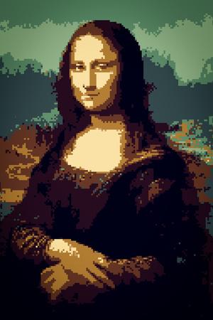 8-Bit Mona Lisa Plastic Sign Plastic Sign
