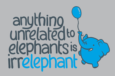 Irrelephant Snorg Tees Plastic Sign Plastic Sign by  Snorg