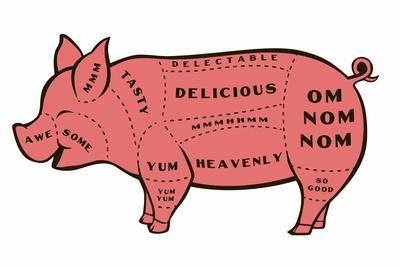 Tasty Pig Snorg Tees Plastic Sign Plastic Sign by  Snorg