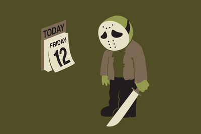 Jason sad on Friday the 12th snorg tees graphic plastic sign poster art