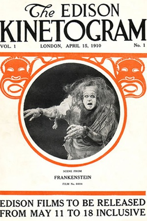 Frankenstein Movie Augustus Phillips 1910 Plastic Sign Plastic Sign