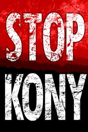 Stop Joseph Kony 2012 Political Plastic Sign Plastic Sign