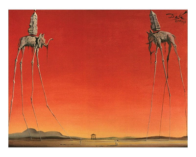 Les Elephants Prints by Salvador Dalí