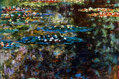 Claude Monet Water Garden at Giverny Plastic Sign Plastic Sign
