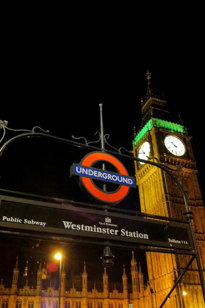 Westminster Station London Underground Plastic Sign Plastic Sign