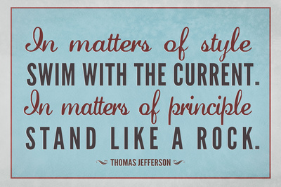 Stand Like A Rock Thomas Jefferson Quote Plastic Sign Plastic Sign