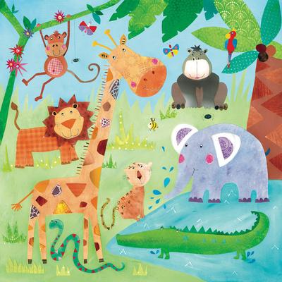 Jungle Friends II Prints by Kate and Elizabeth Pope