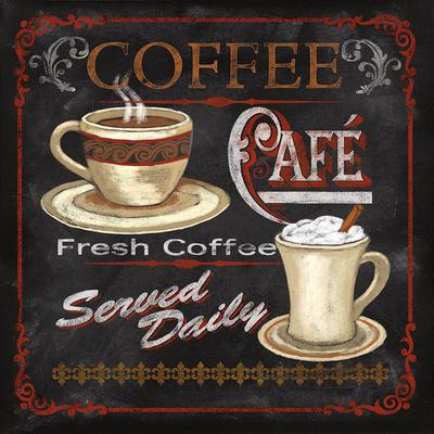 Coffee Café Poster by Conrad Knutsen