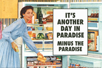 Another Day in Paradise Minus the Paradise Funny Plastic Sign Plastic Sign by  Ephemera