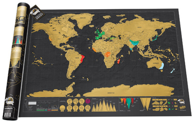 Scratch Map Deluxe Edition Poster Posters