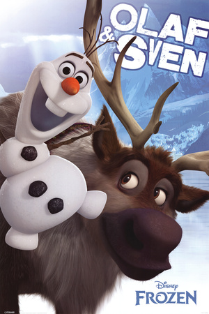 Frozen Olaf and Sven Posters