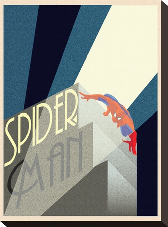 Spider-Man Building Stretched Canvas Print