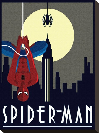 Spider-Man Hanging Stretched Canvas Print