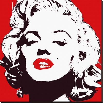 Marilyn Monroe (Red) Płótno naciągnięte na blejtram - reprodukcja