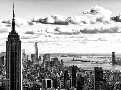 Skyline with the Empire State Building and the One World Trade Center, Manhattan, NYC Photographic Print by Philippe Hugonnard