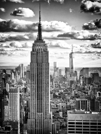 Cityscape, Empire State Building and One World Trade Center, Manhattan, NYC Photographic Print by Philippe Hugonnard