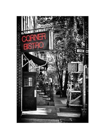 Urban Scene, Corner Bistro, Meatpacking and West Village, Manhattan, New York Stampa fotografica di Philippe Hugonnard