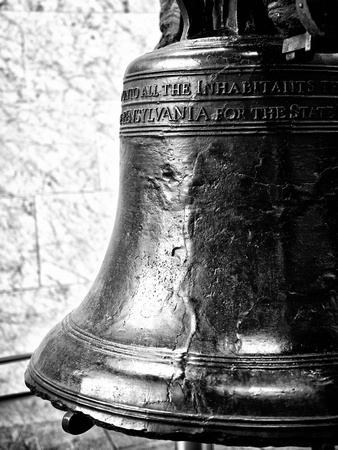 The Liberty Bell, Philadelphia, Pennsylvania, United States, Black and White Photography Photographic Print by Philippe Hugonnard