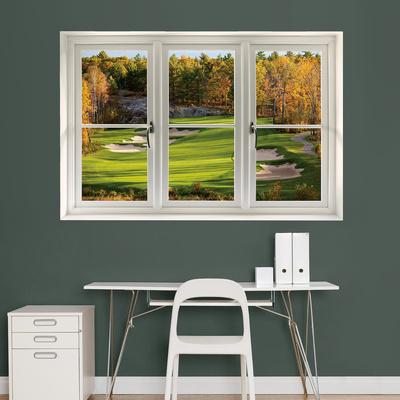 Fall Golf Tee Box Window Decal Sticker Window Decal