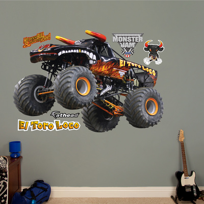 Monster Jam: El Toro Loco - Black Version Wall Decal Wall Decal
